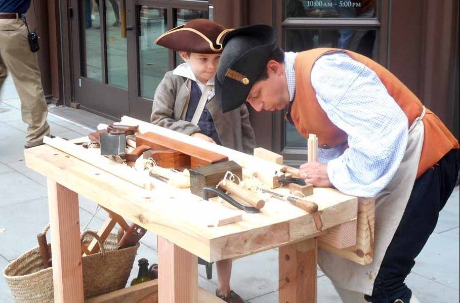 Demonstration of eighteenth-century woodworking